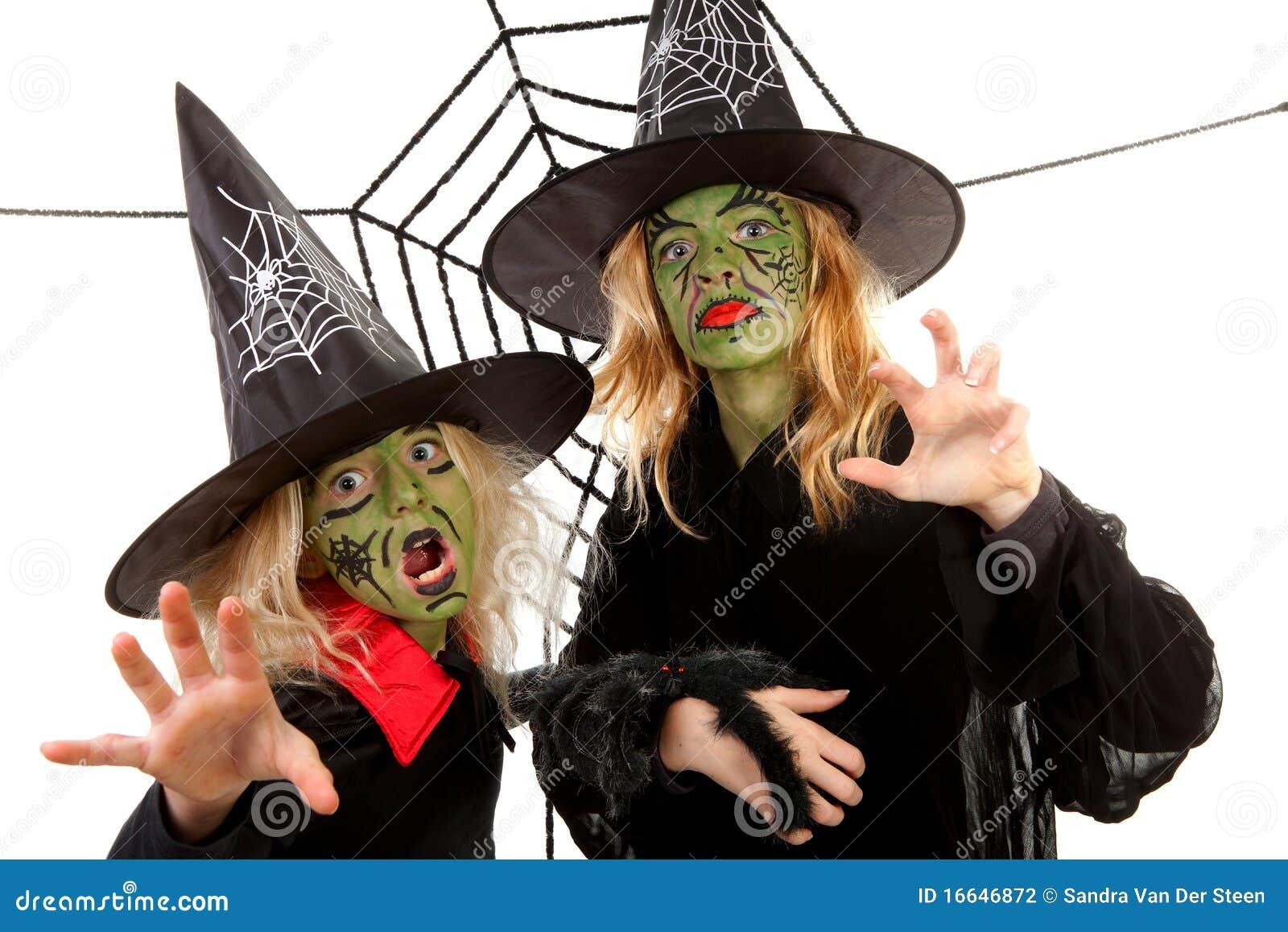 绿色万圣节可怕巫婆