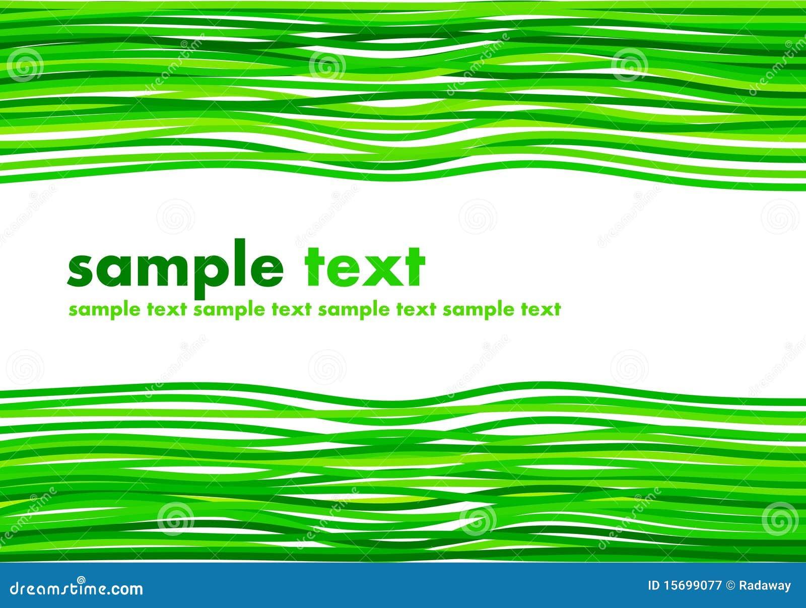 绿色例证丝带