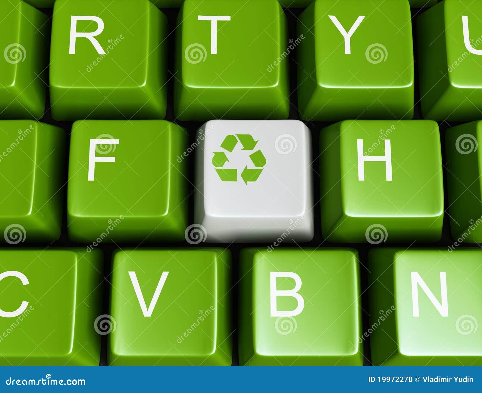 绿色关键董事会回收