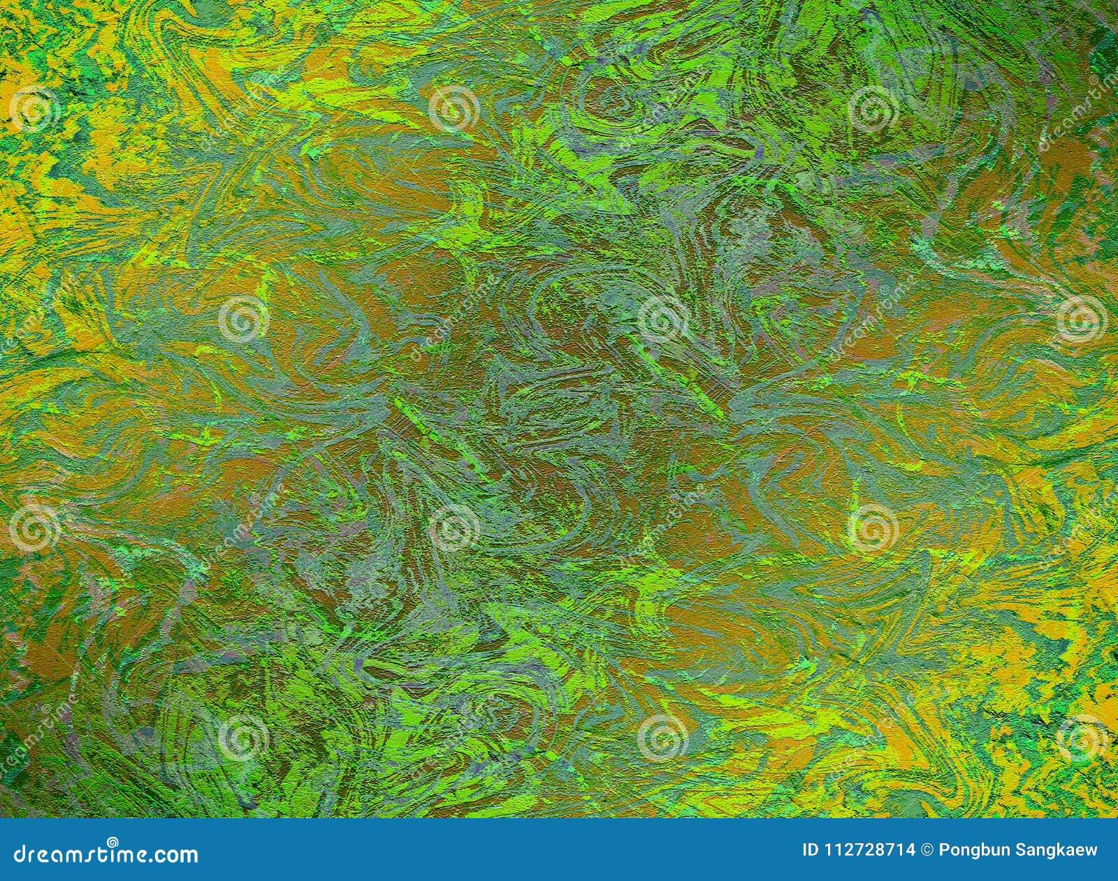 绿色和金子大理石作用提取样式背景