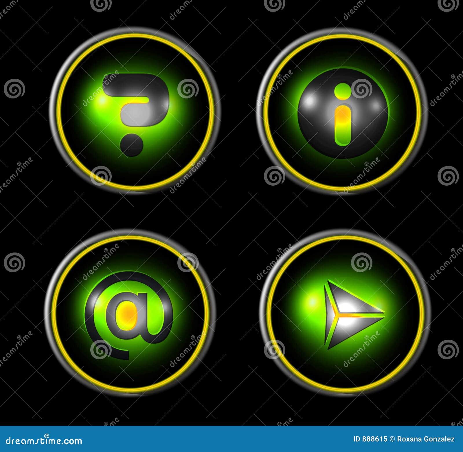 绿色图标集合万维网