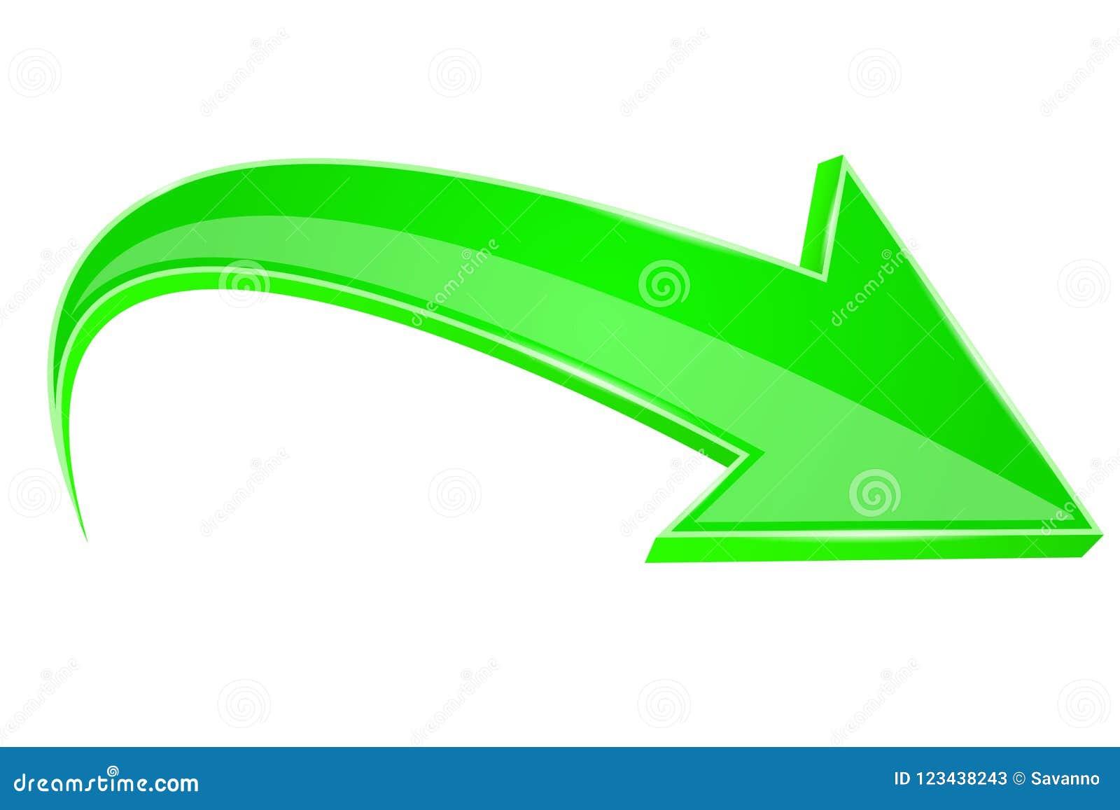 绿色箭头 3d符号