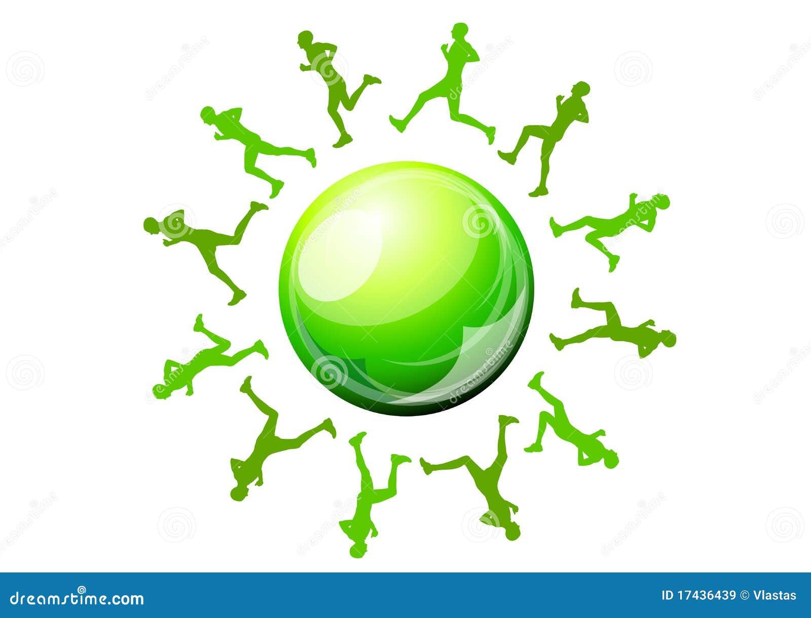 绿色赛跑者