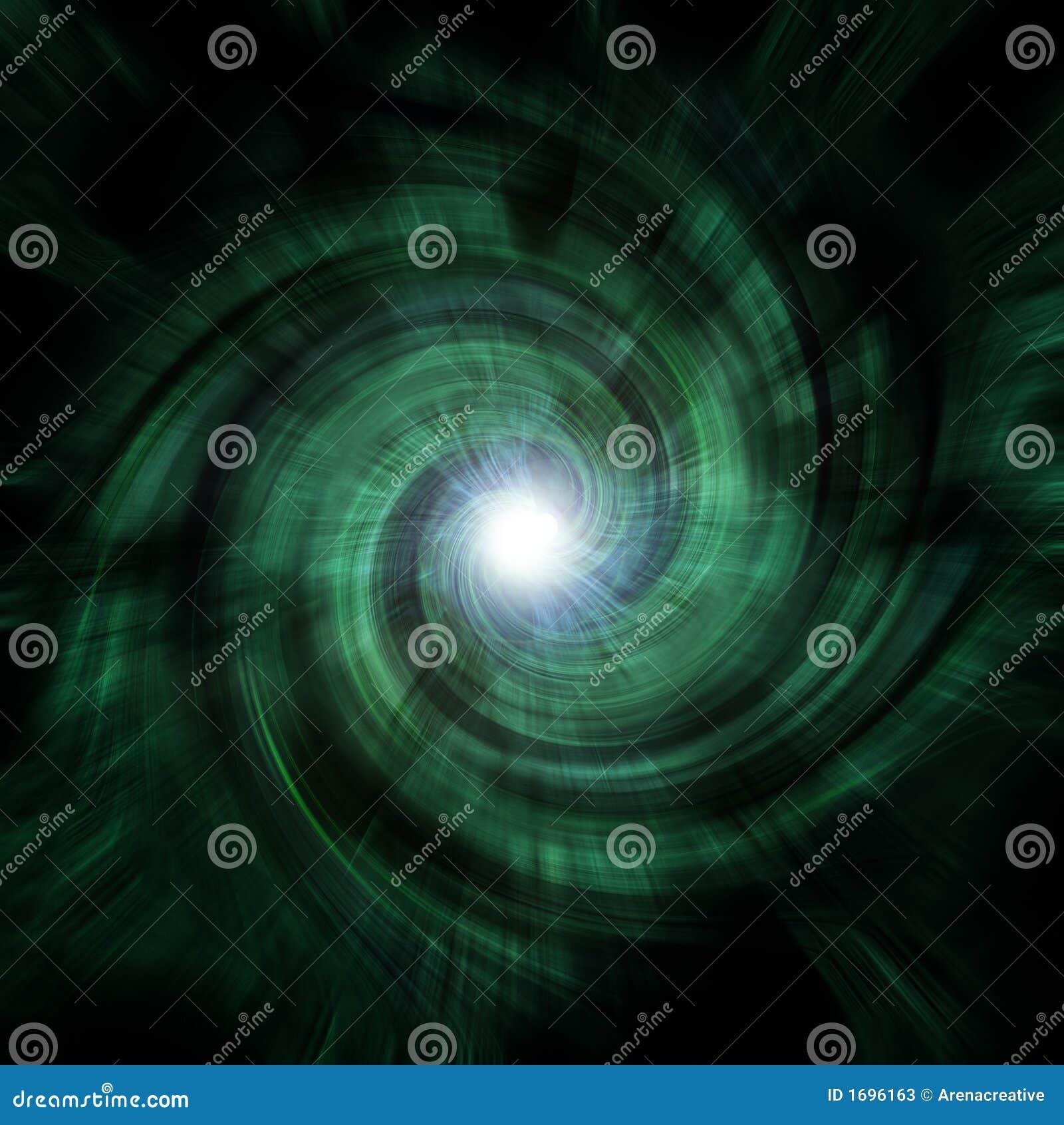 绿色隧道漩涡