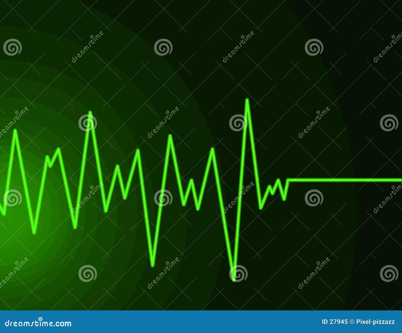 绿色霓虹无线电波