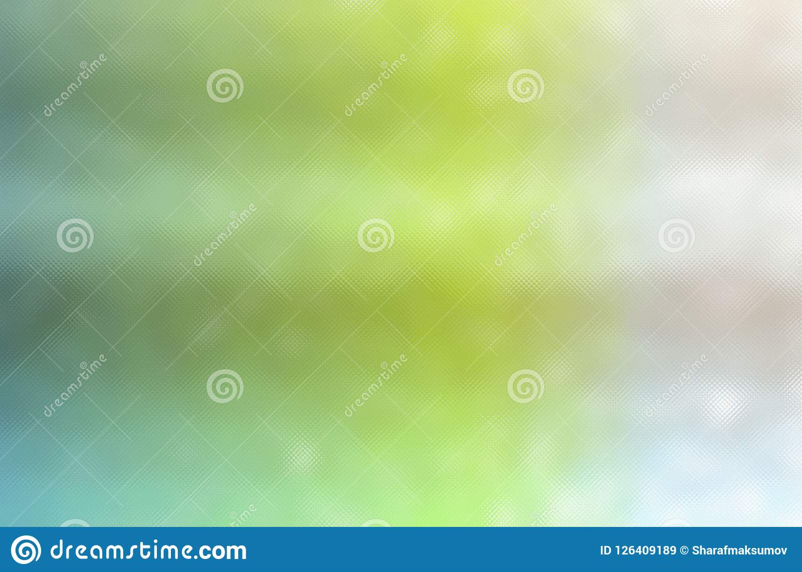 绿色,蓝色和乳脂状的五颜六色的通过微小的玻璃背景的抽象例证