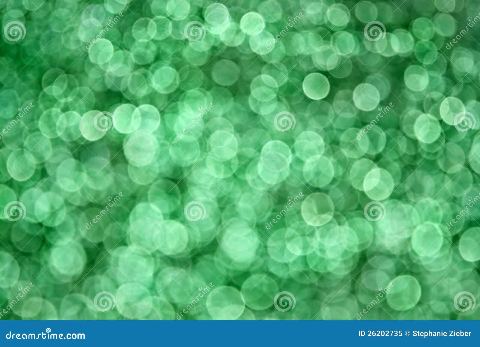 绿色Bokeh背景