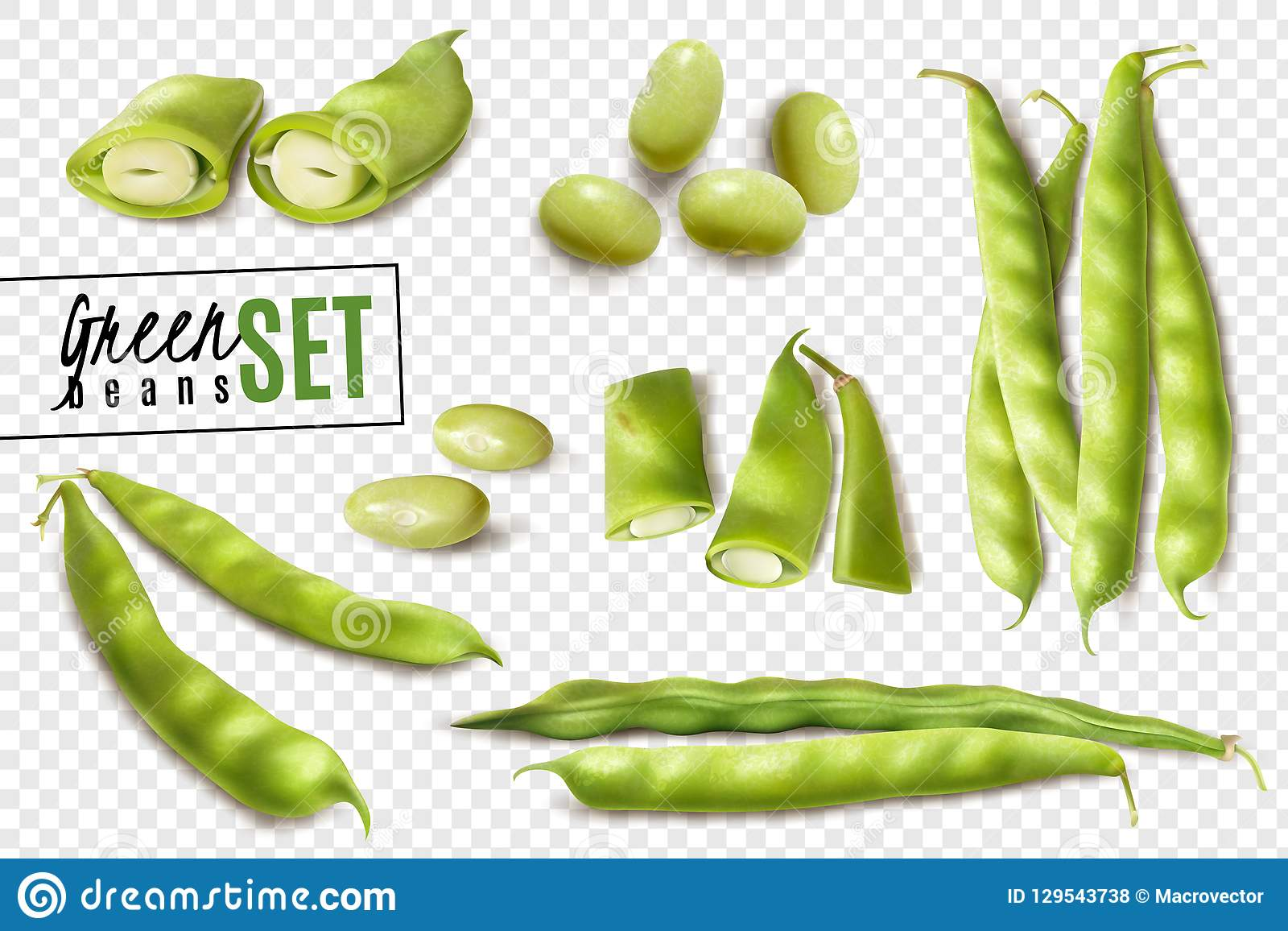 绿豆现实透明集合