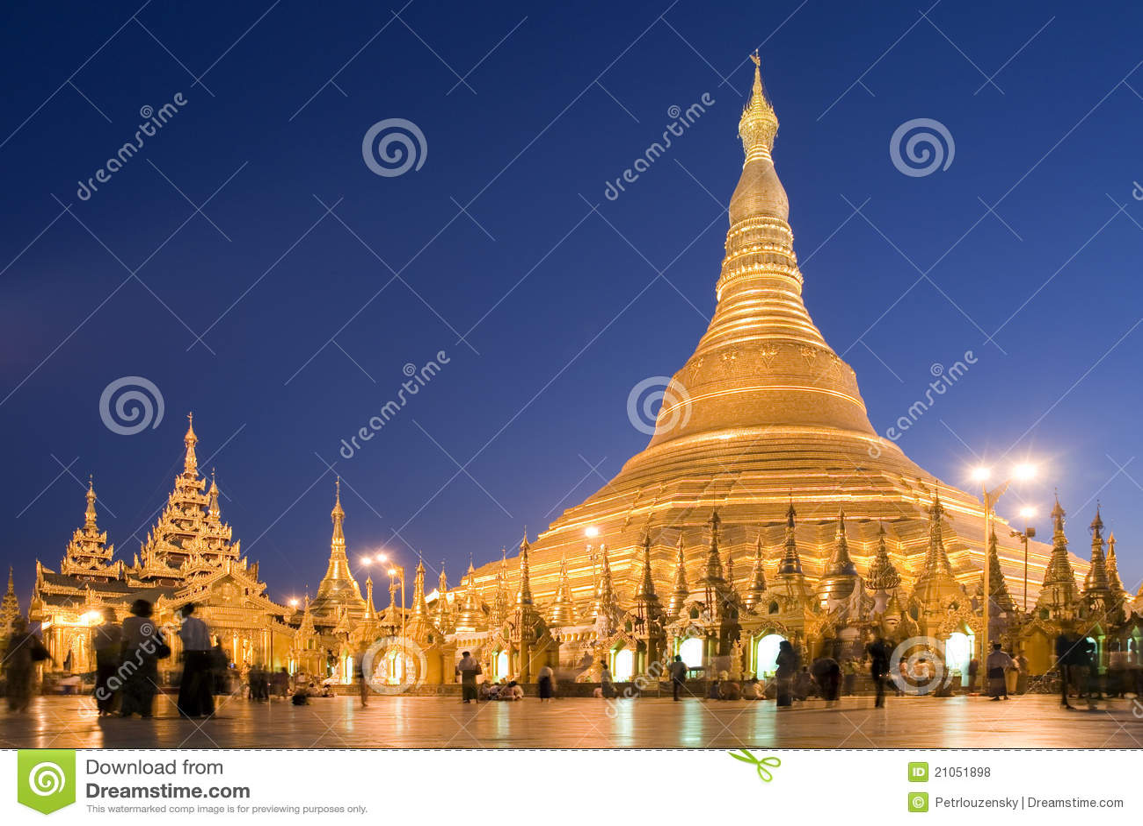 缅甸缅甸塔shwedagon仰光