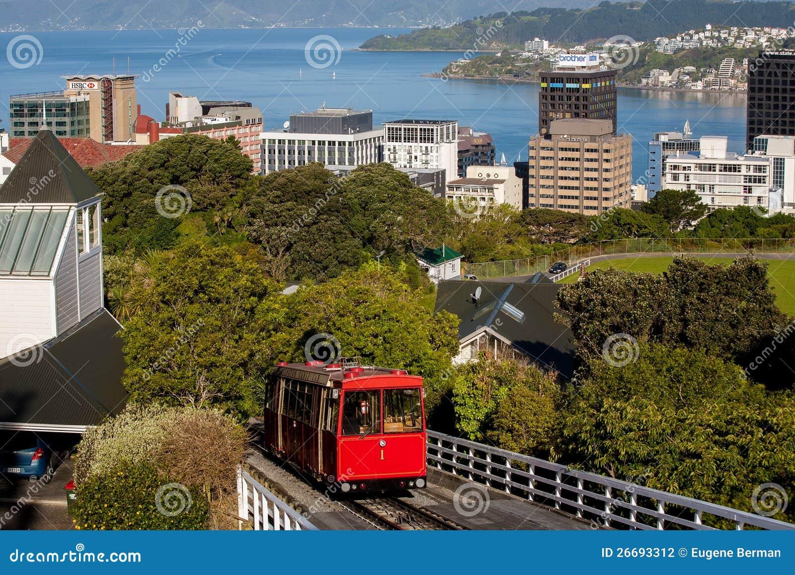 缆车在惠灵顿,新西兰