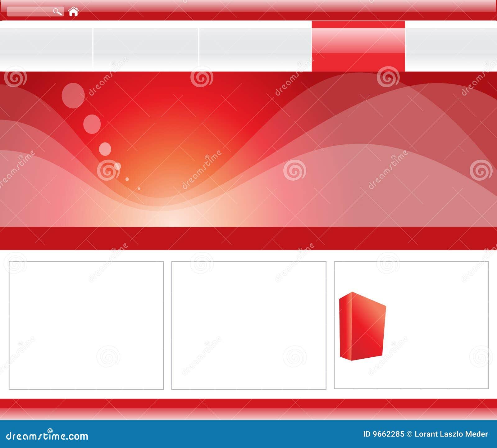 横幅红色站点模板万维网机智.