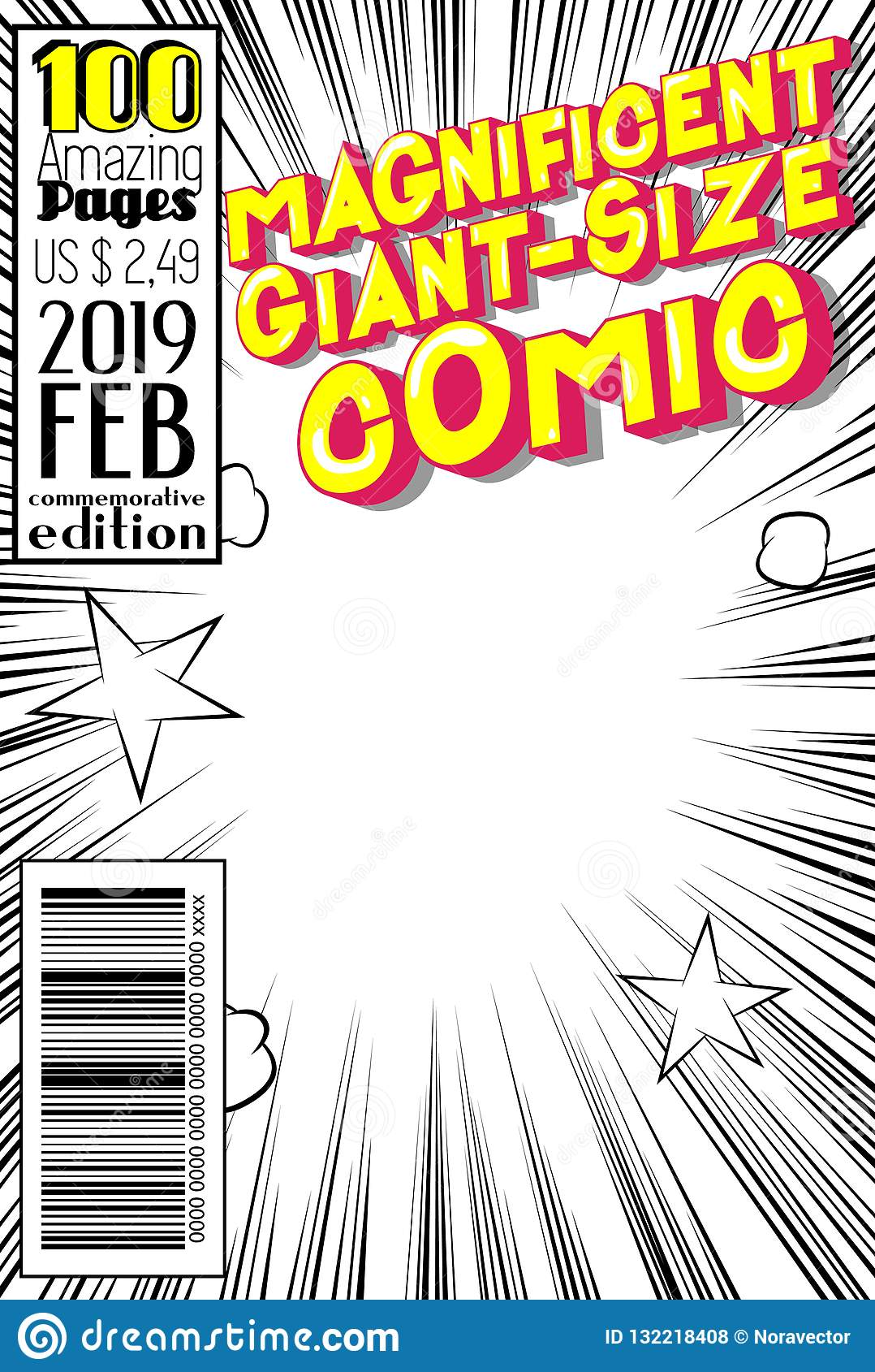 编辑可能的漫画书套有抽象背景