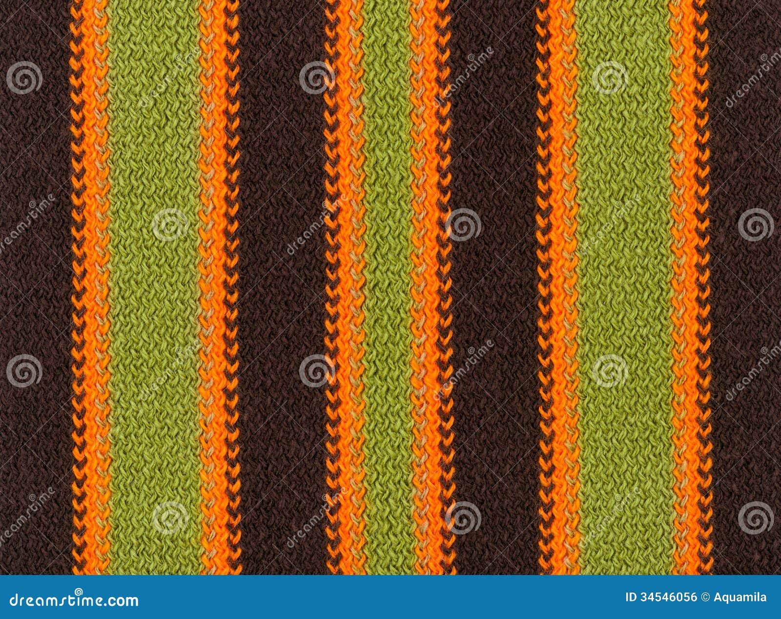 编织羊毛纹理背景,五颜六色和有条纹