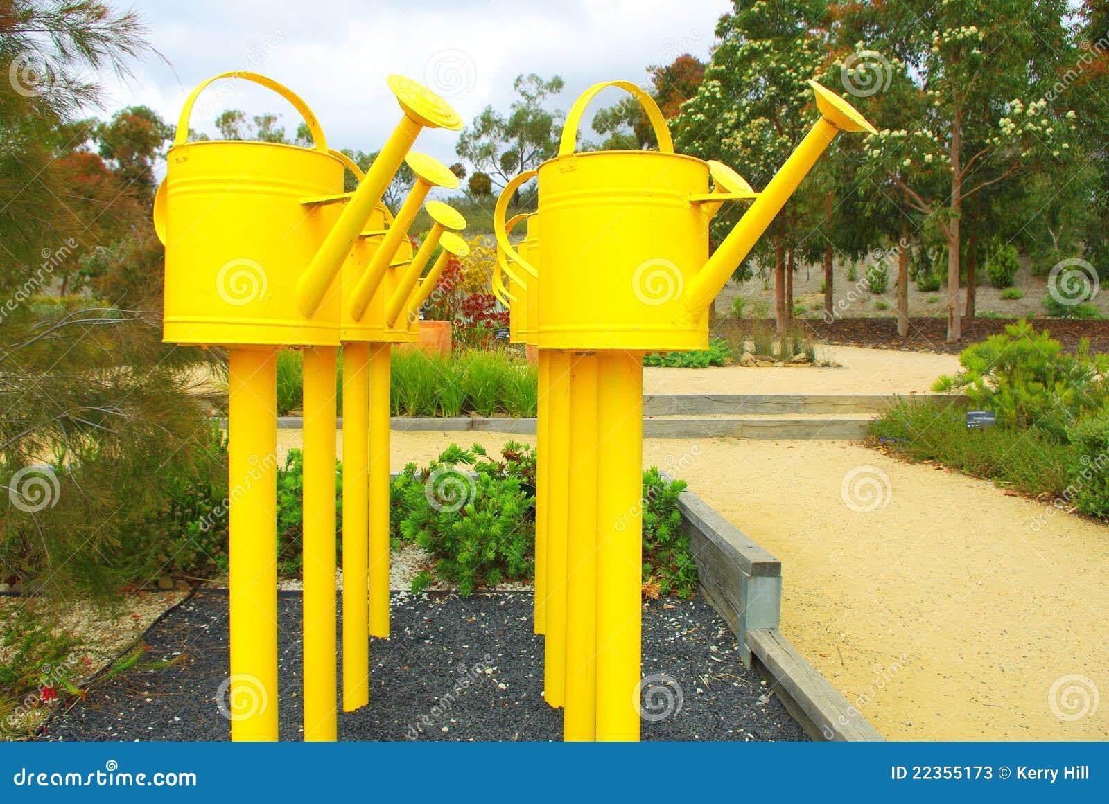 罐头显示浇灌的黄色