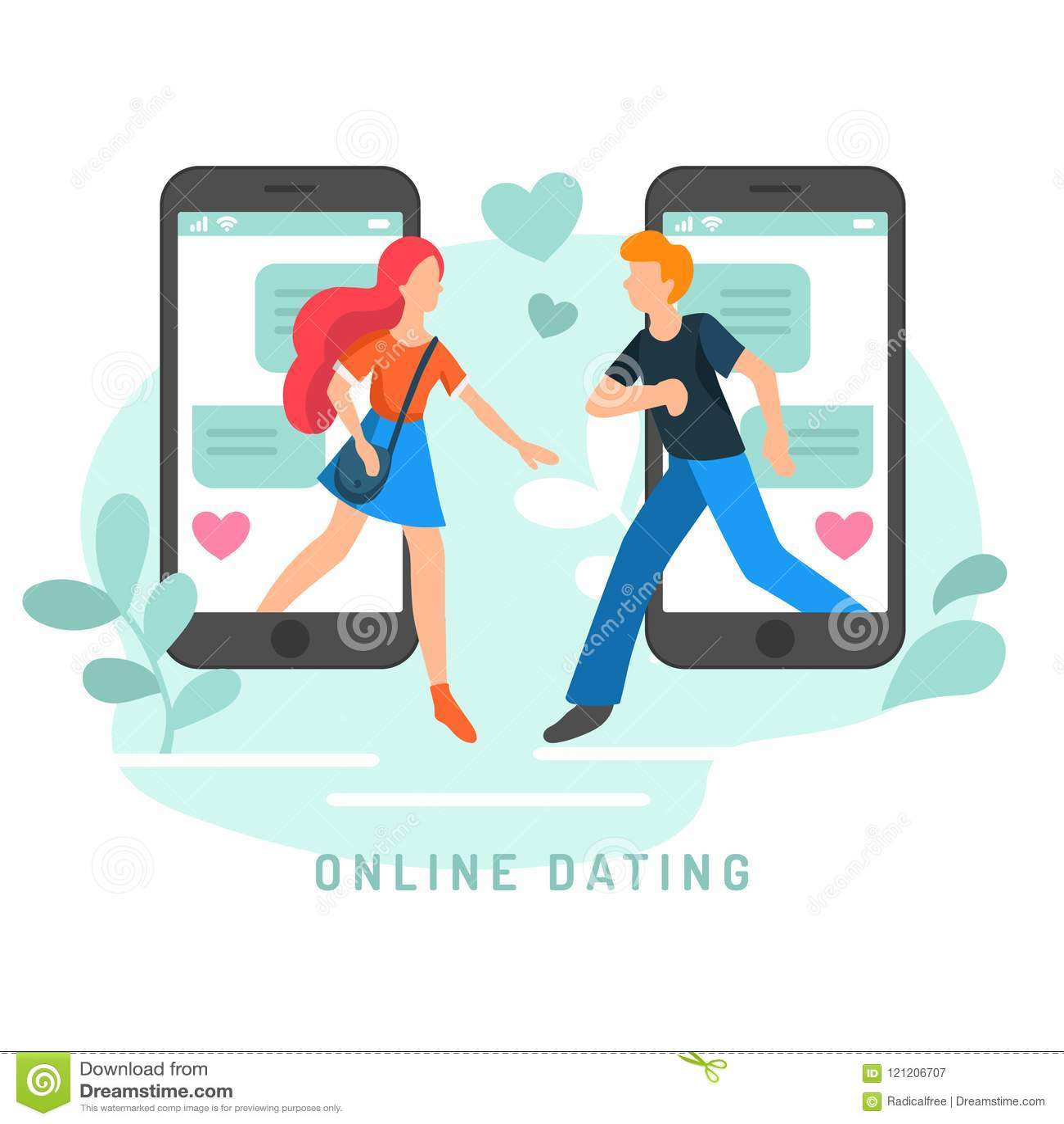网上约会的app用户的传染媒介例证 男人和妇女相识平的infographics社会网络的