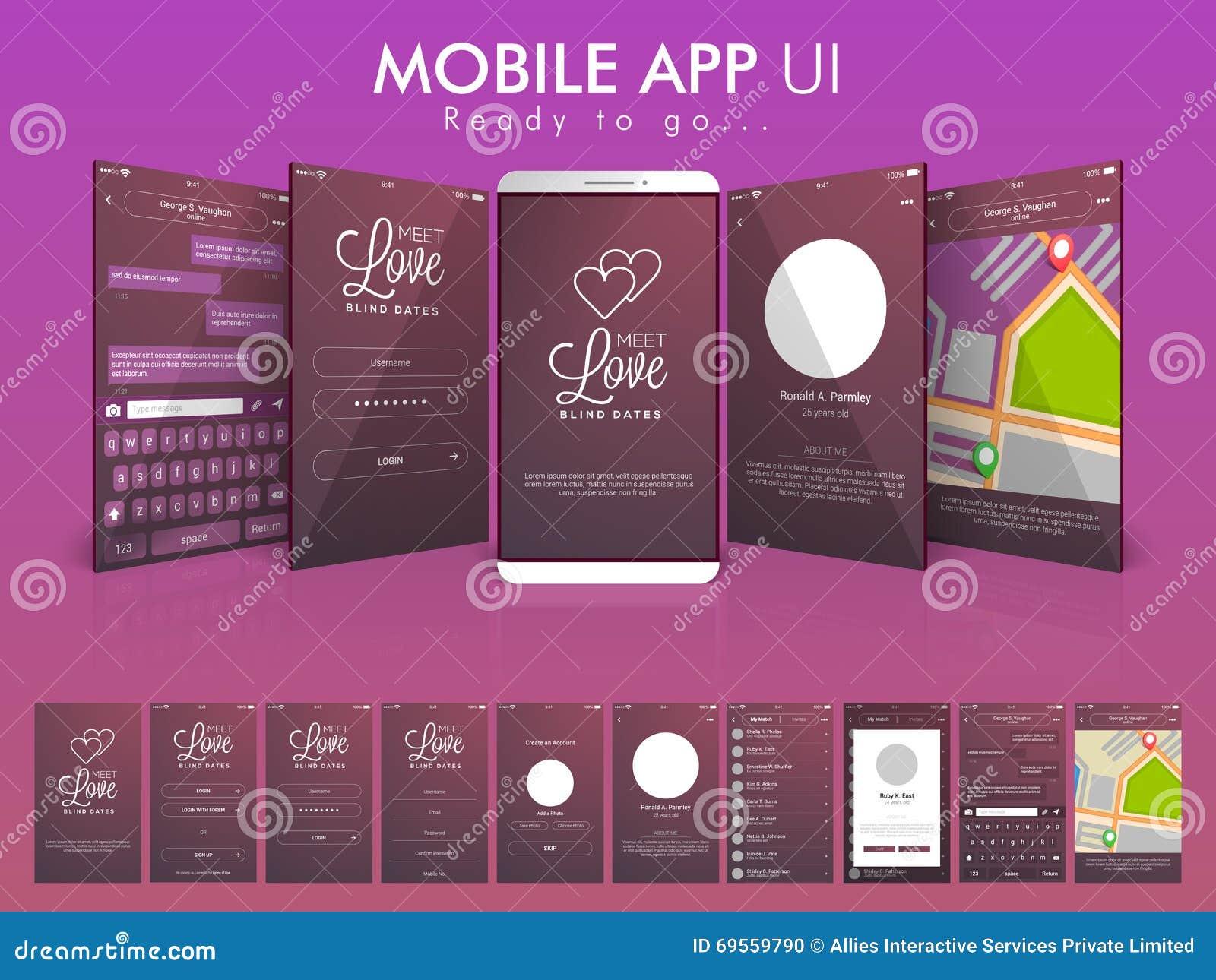 网上通信流动App UI屏幕