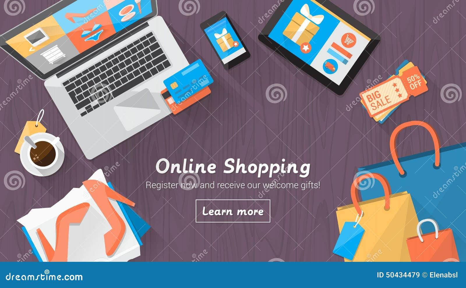 网上购物桌面