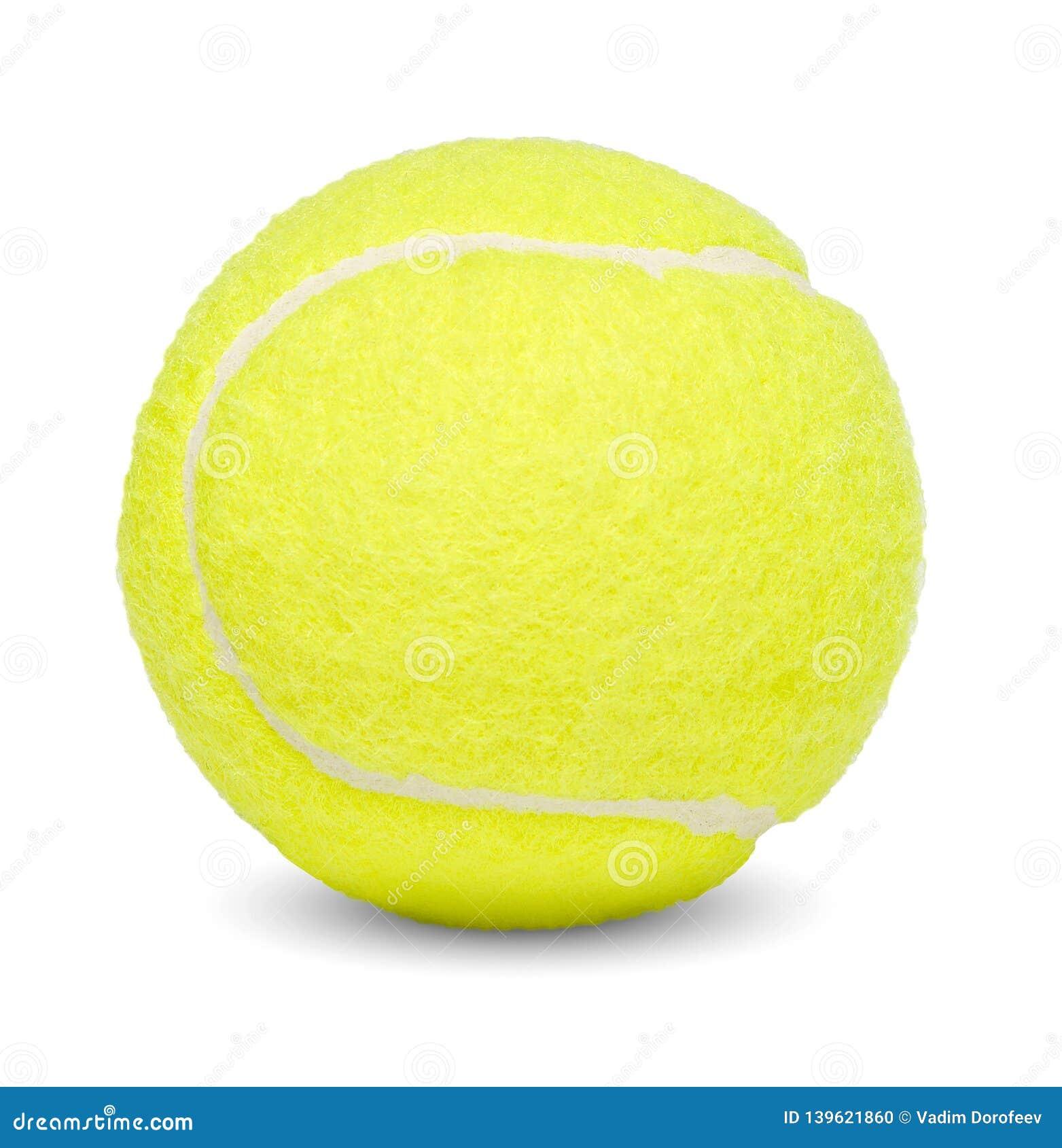 网球 白色查出的背景 特写镜头 侧视图