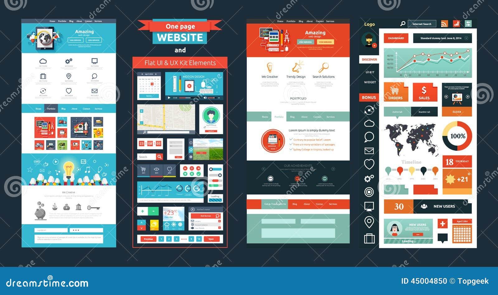 网站页模板 网络设计
