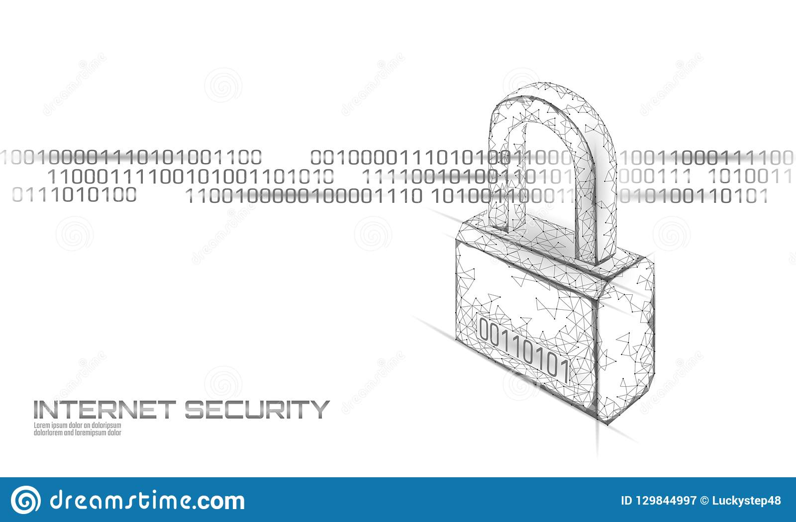 网络在数据大量的安全挂锁 互联网安全锁低信息保密性多多角形未来创新