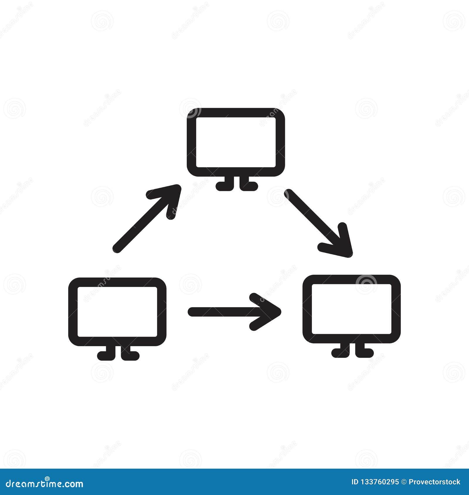 网络象在白色背景和标志隔绝的传染媒介标志,网络商标概念