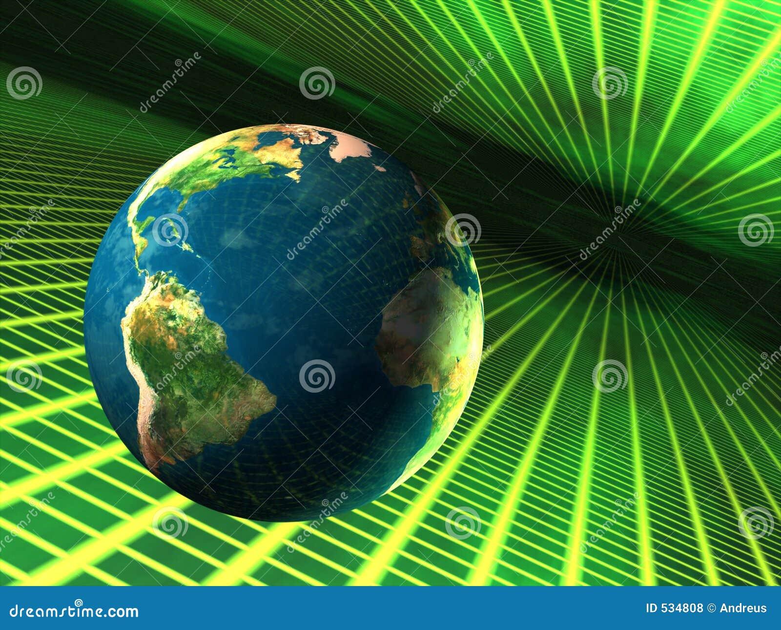 Download 网际空间地球 库存例证. 插画 包括有 尺寸, 数字式, 未来派, 抽象, 绿色, 大陆, 亚马逊, 危险, 艺术性 - 534808