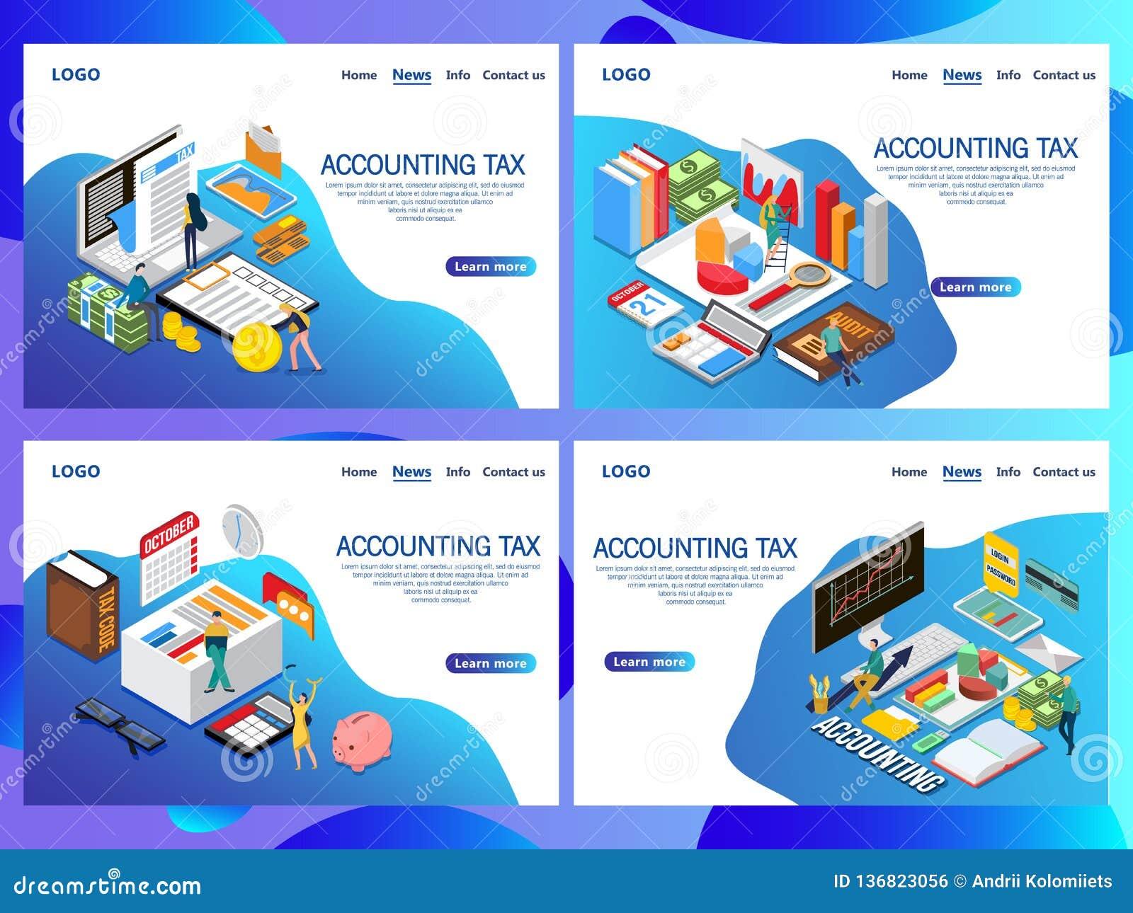 网页认为的税等量传染媒介概念的设计模板