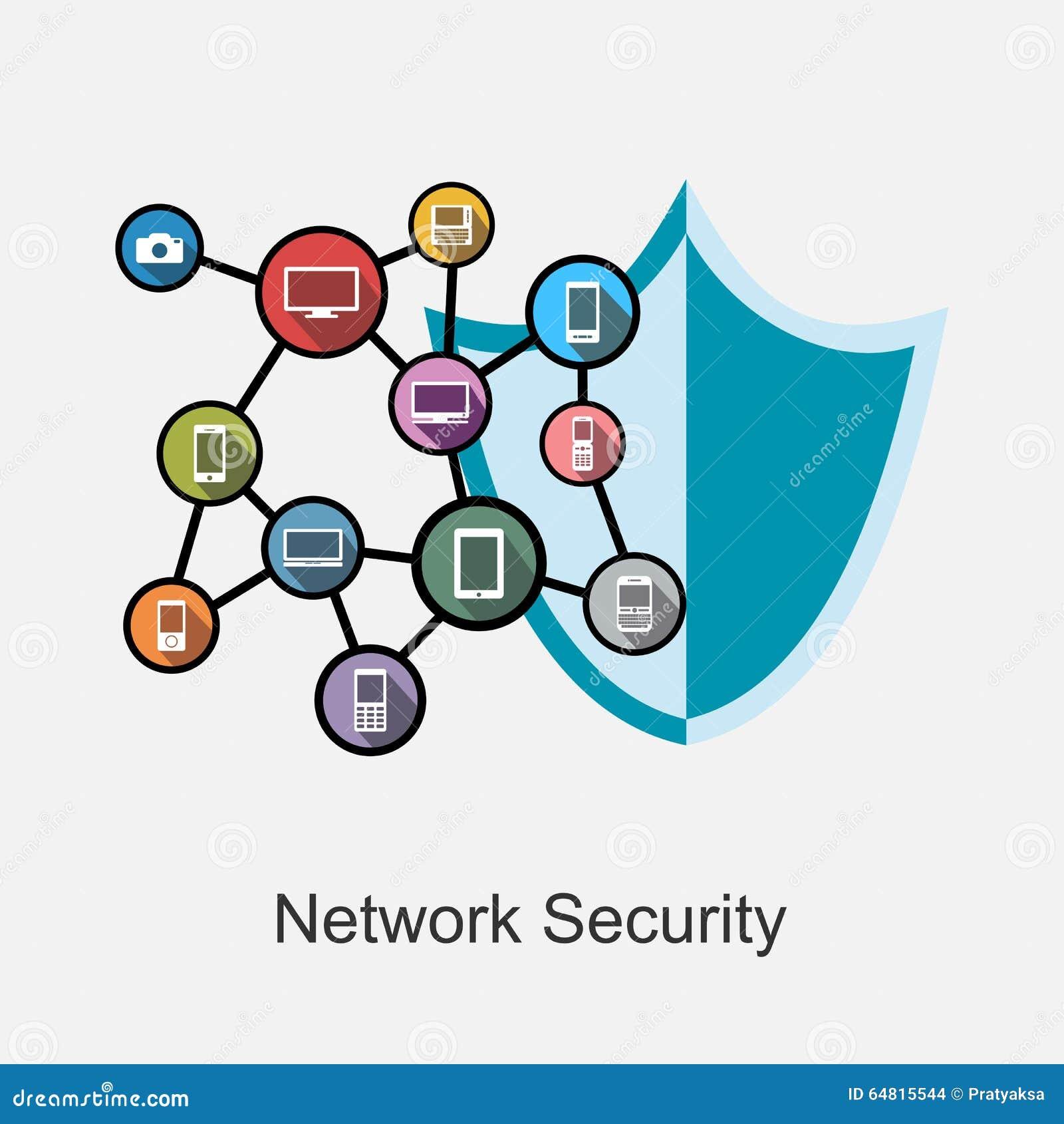 网络安全概念例证