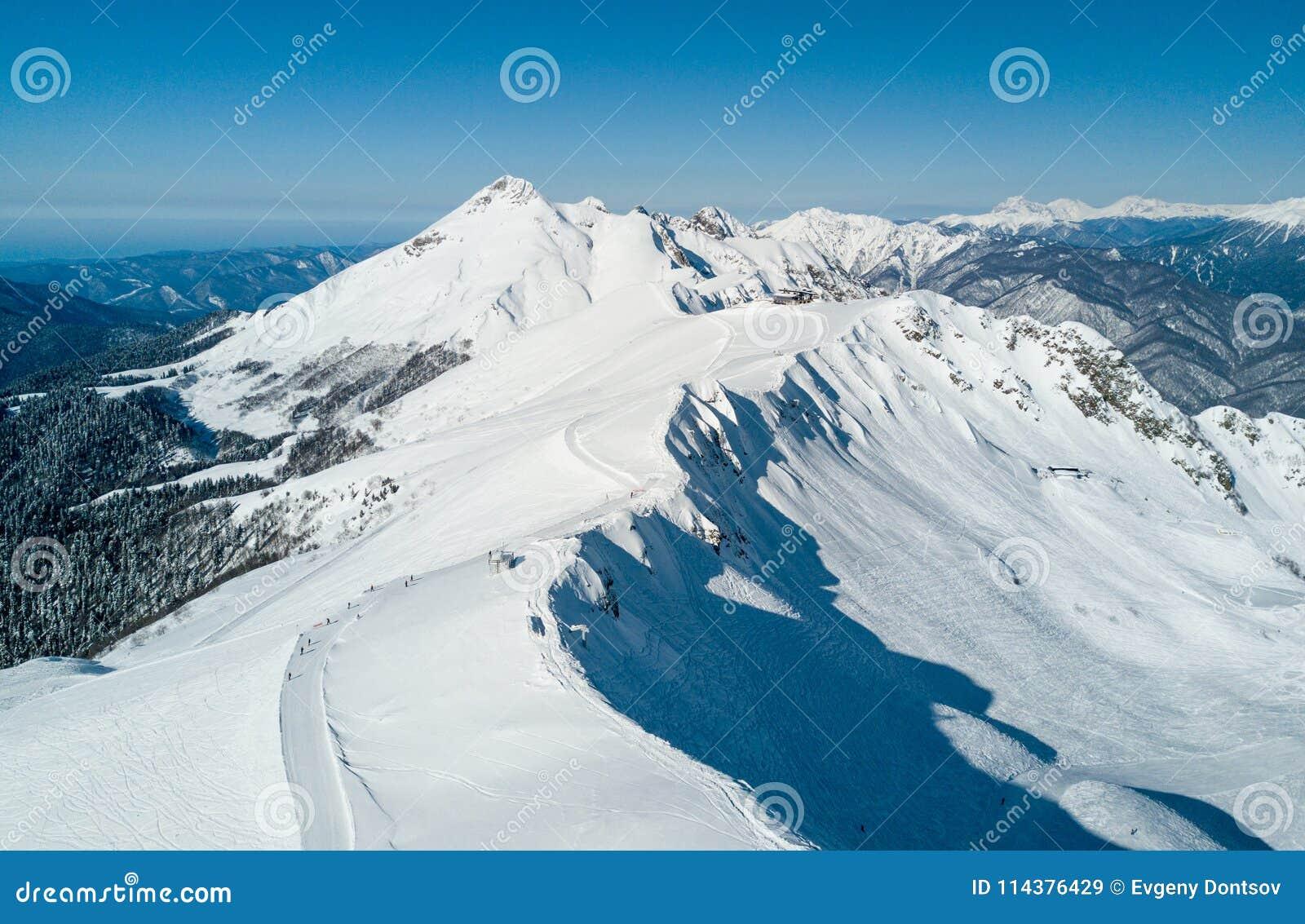 罗莎Khutor滑雪胜地视图