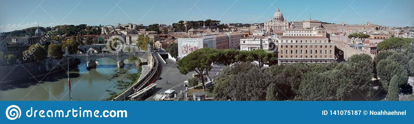 罗马地平线Castel Sant'Angelo全景视图