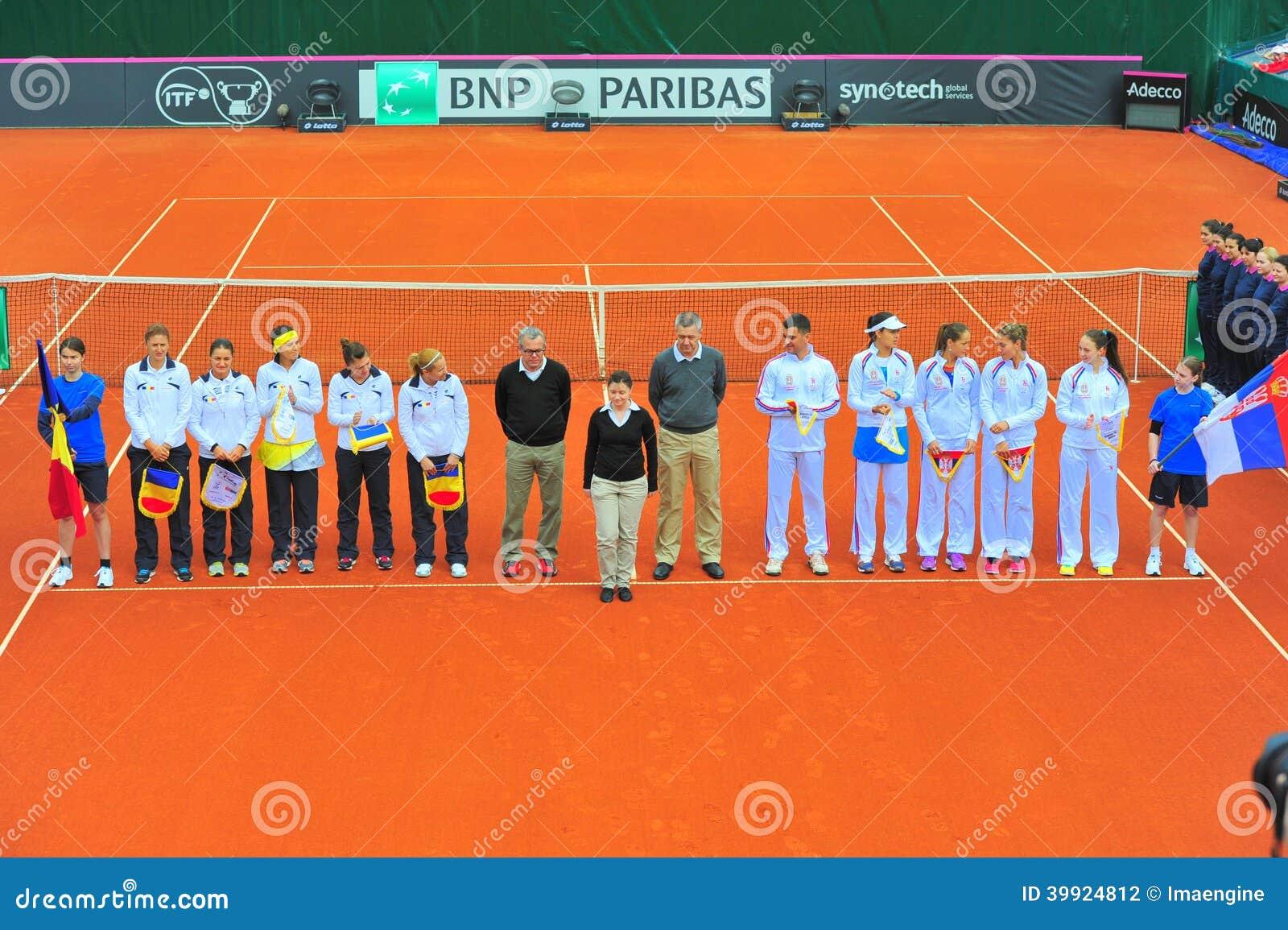 罗马尼亚和塞尔维亚女子网球队