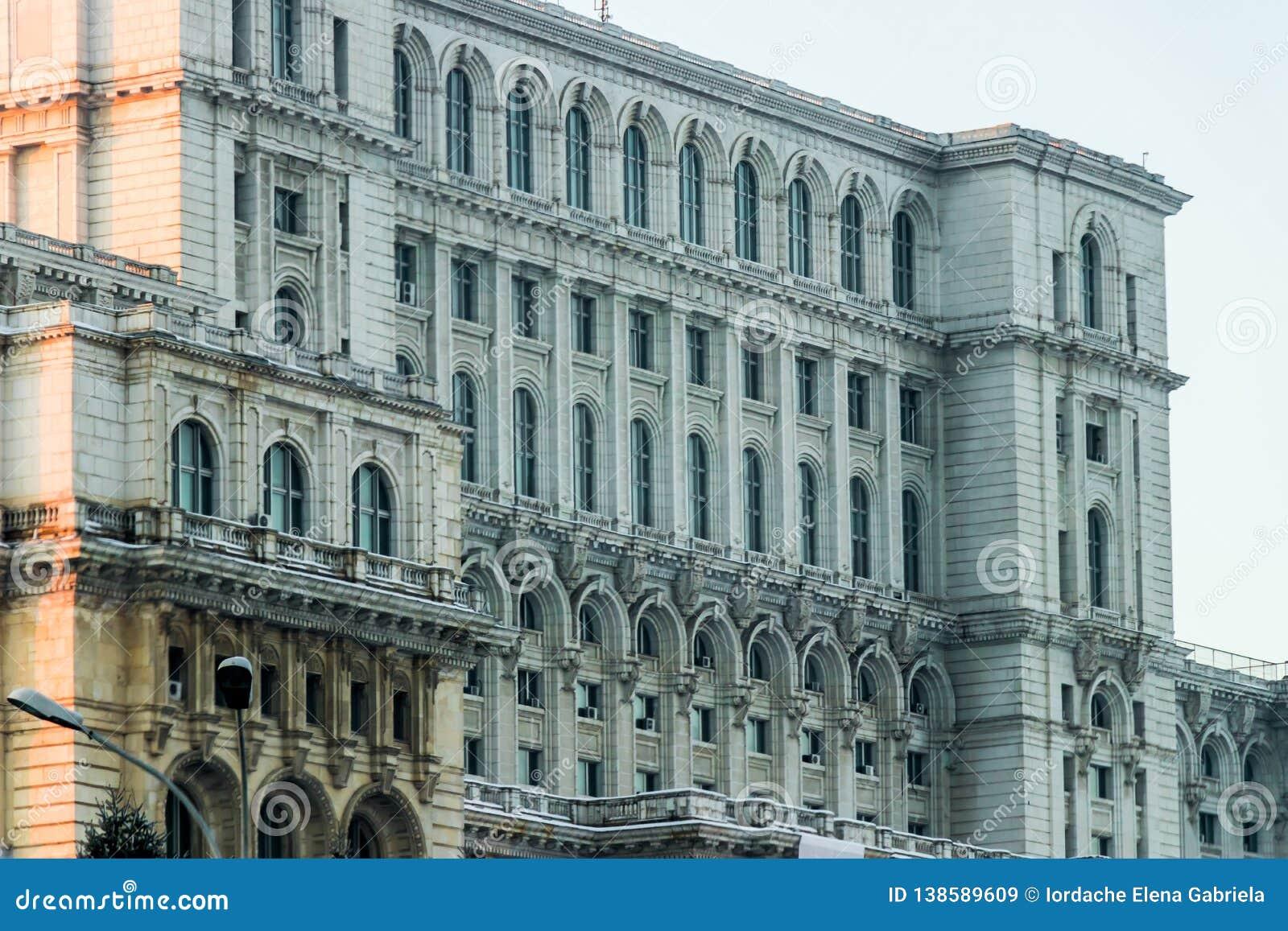 罗马尼亚议会宫殿大厦细节