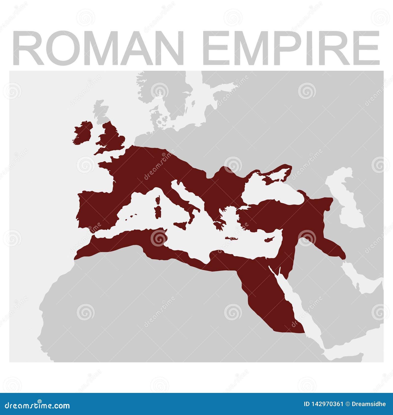 罗马帝国的地图