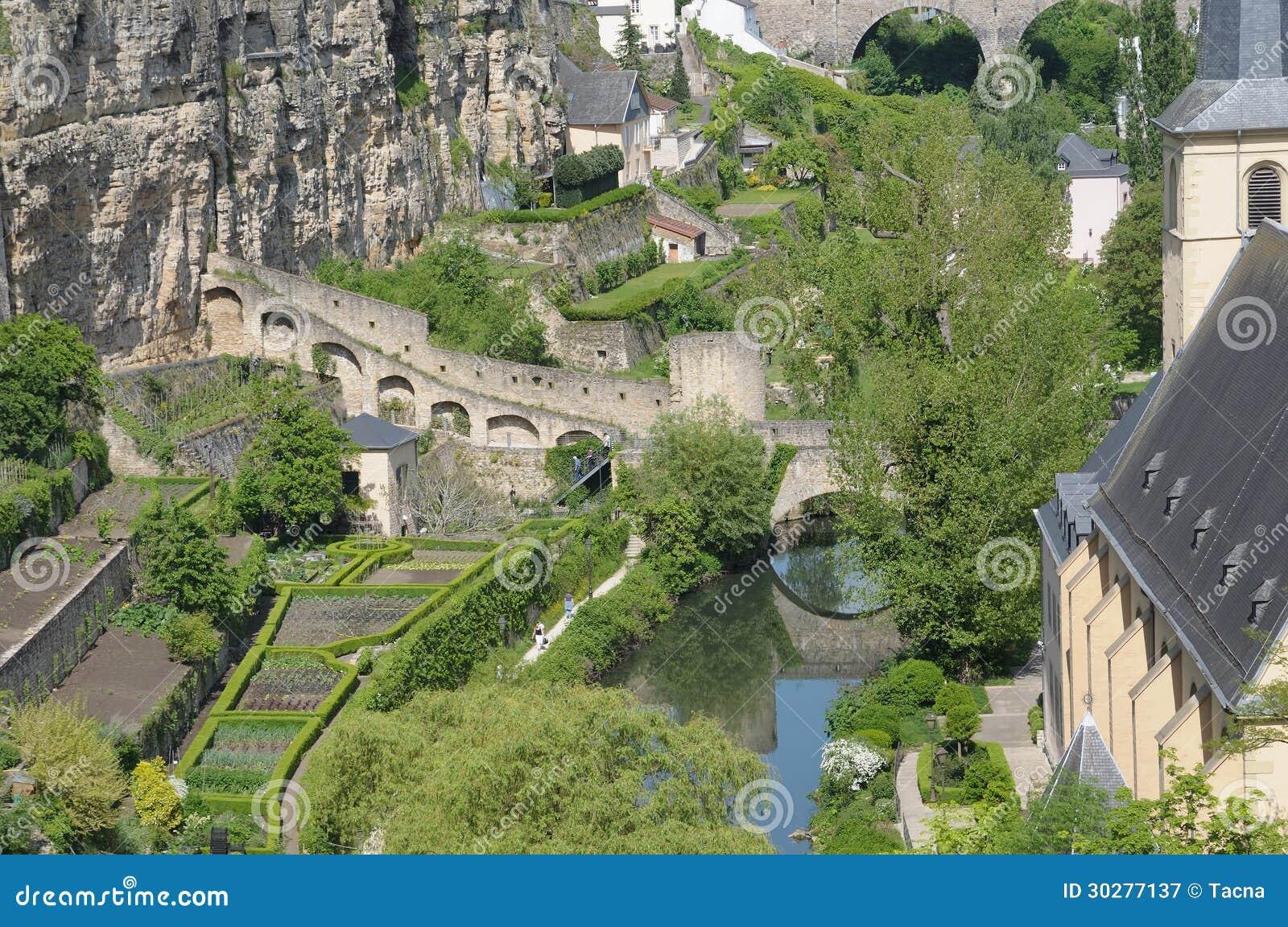 罗马废墟在卢森堡市
