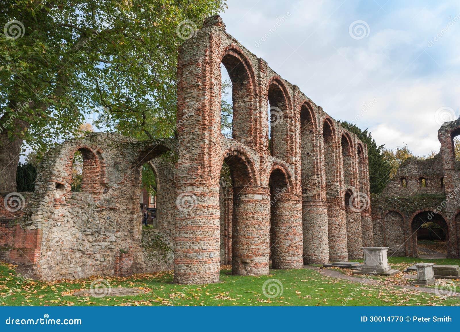 罗马废墟科尔切斯特艾塞克斯英国