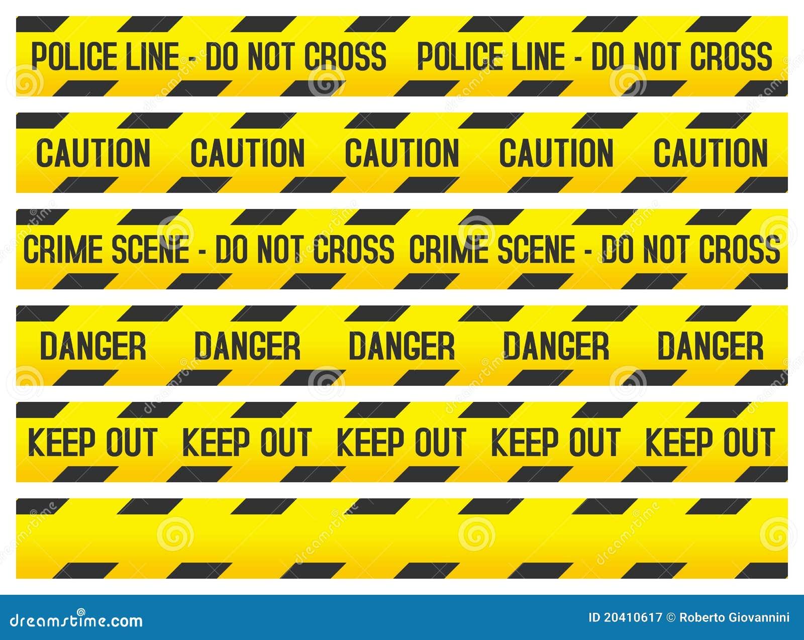 罪行警察场面磁带