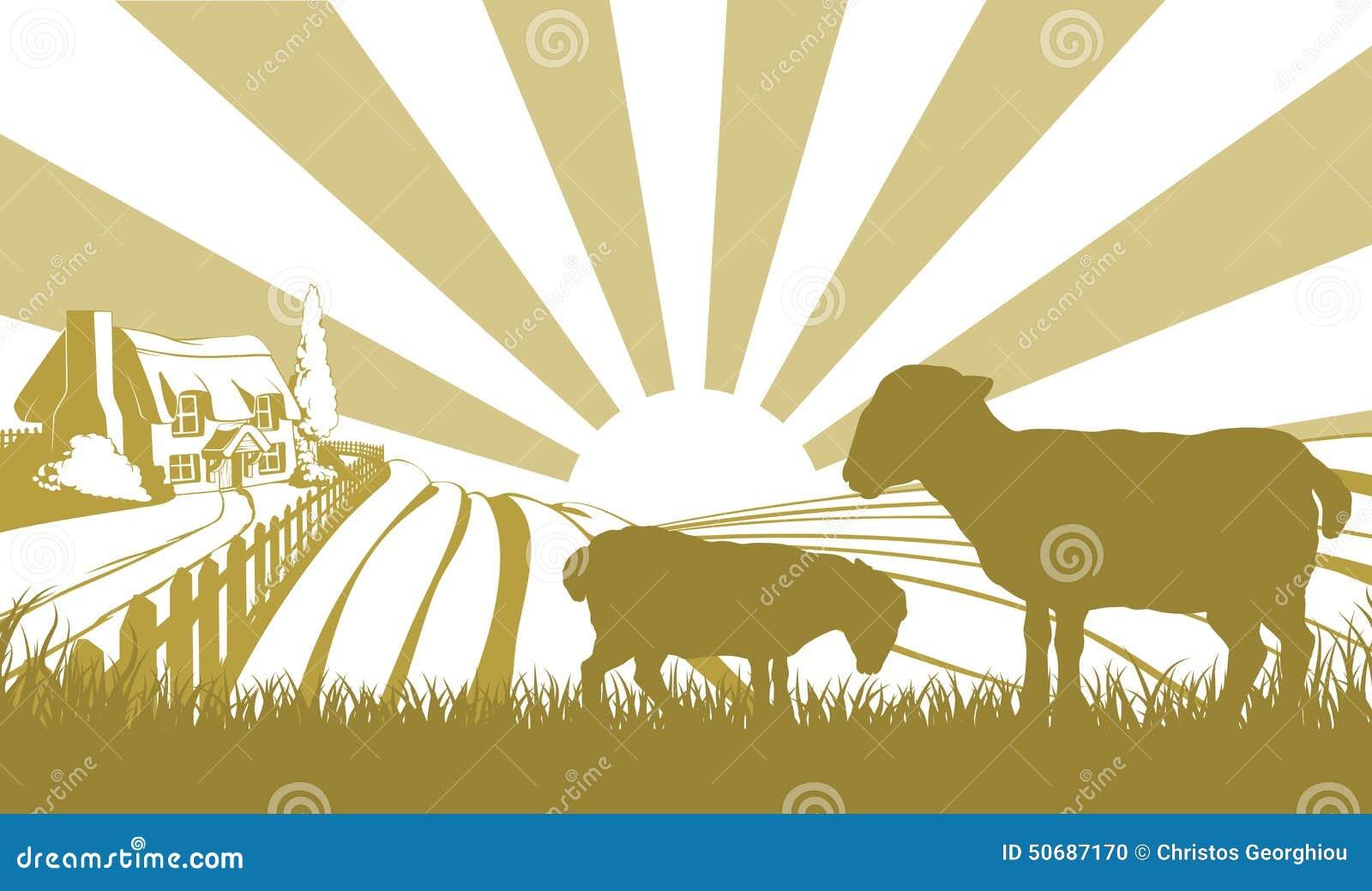Download 绵羊农厂场面 向量例证. 插画 包括有 农场, 问题的, 国家(地区), 例证, 绵羊, 本质, 场面, 房子 - 50687170