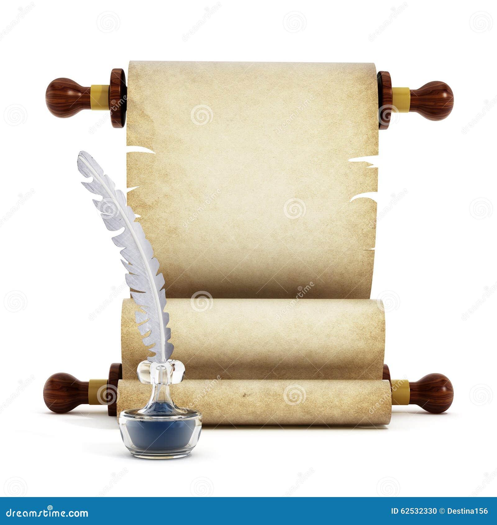 羊皮纸、纤管和墨水
