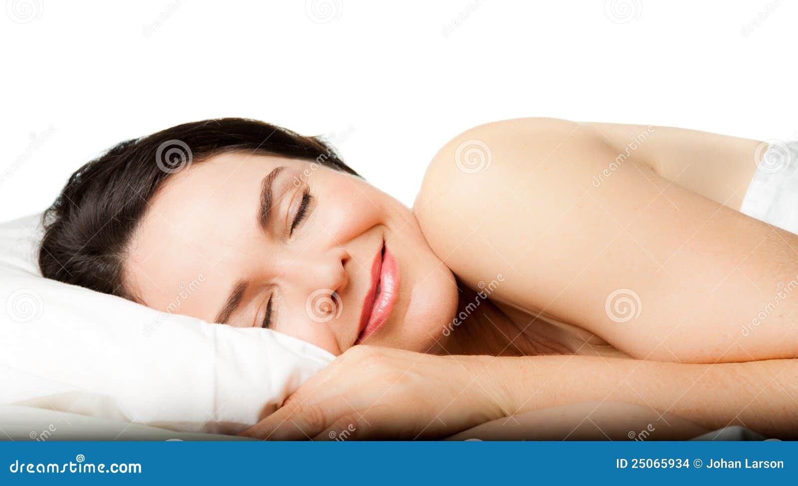 美丽的休眠的妇女