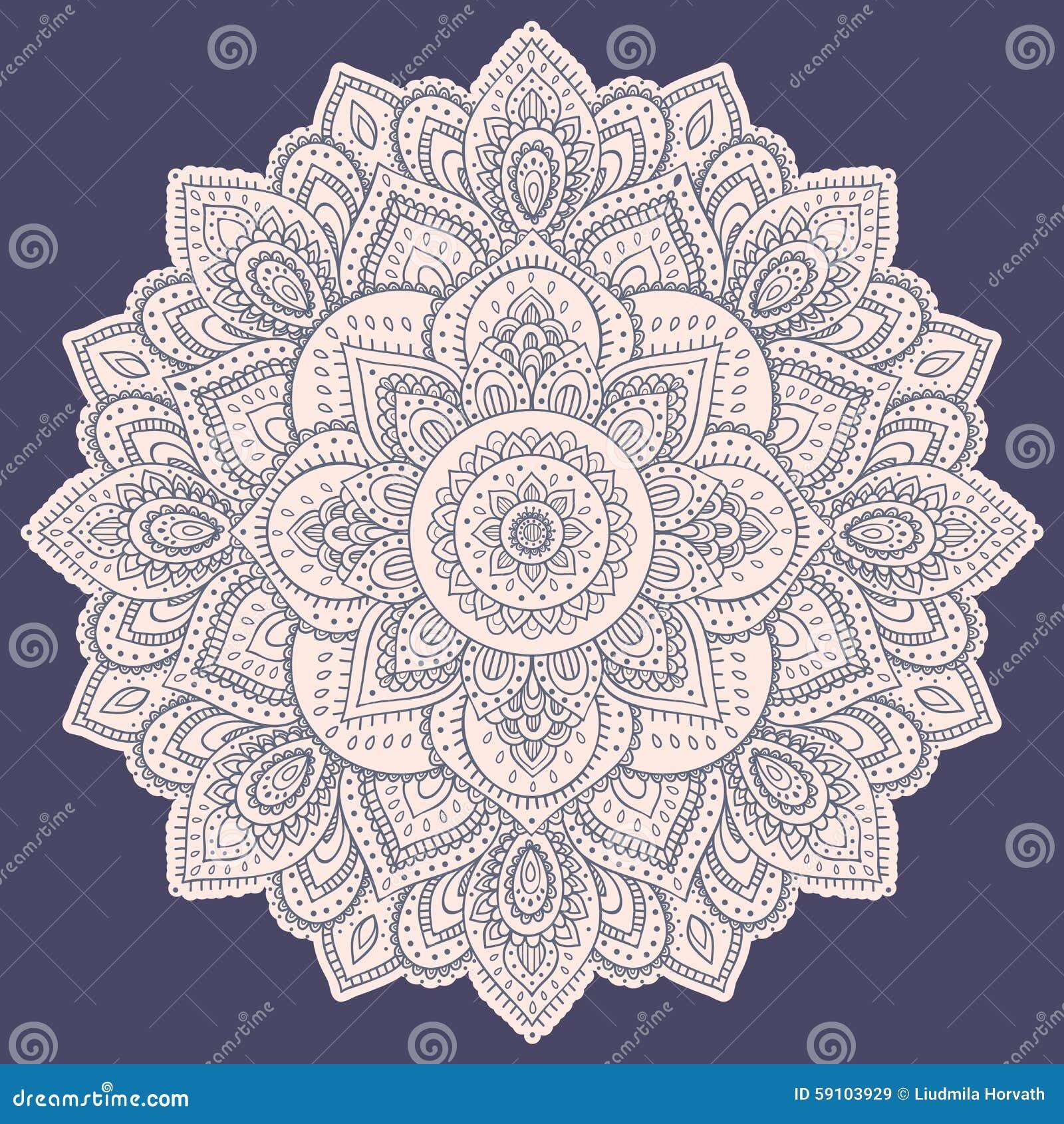 美丽的印地安花卉坛场装饰品