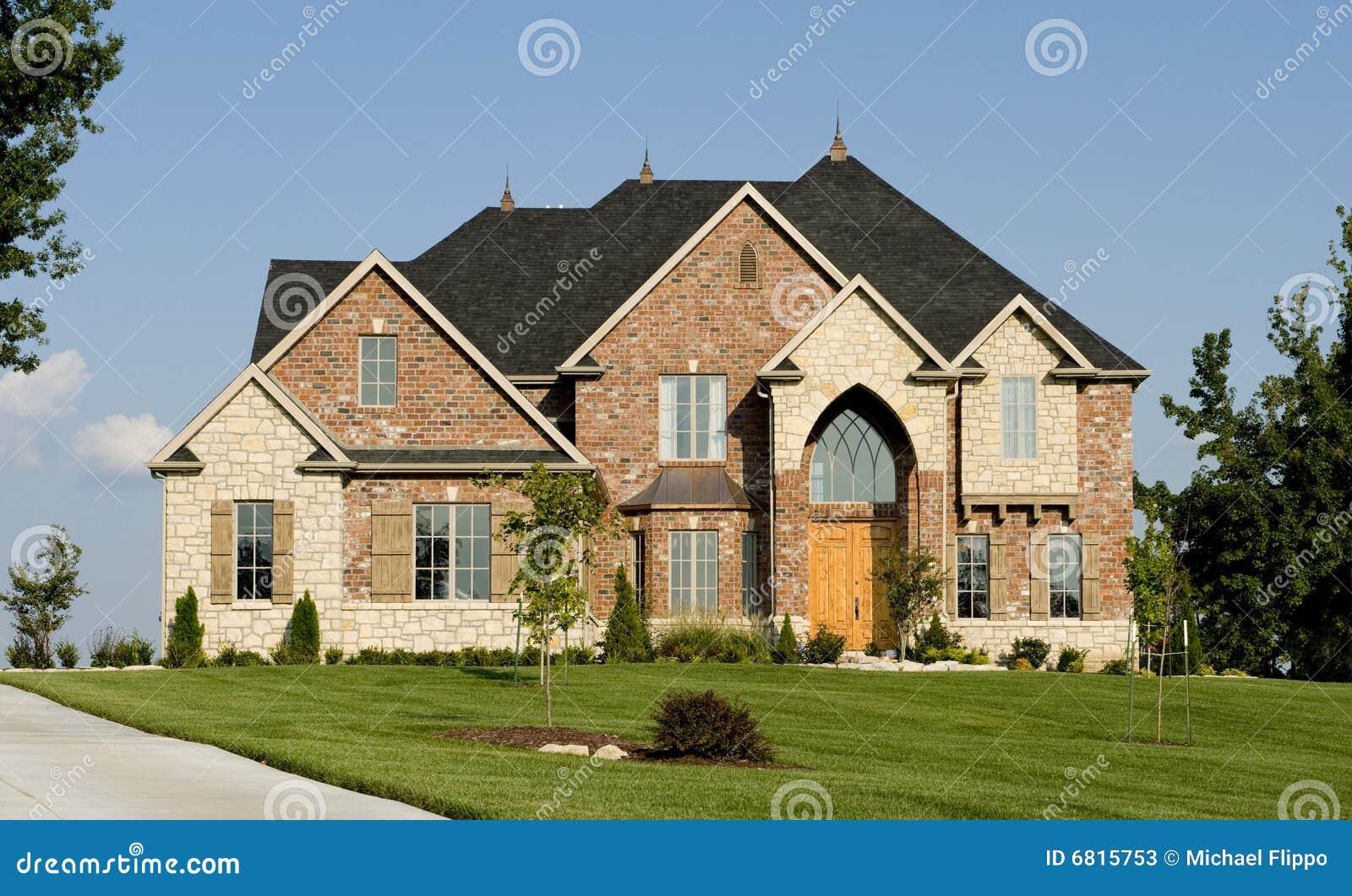 美丽的家庭房子