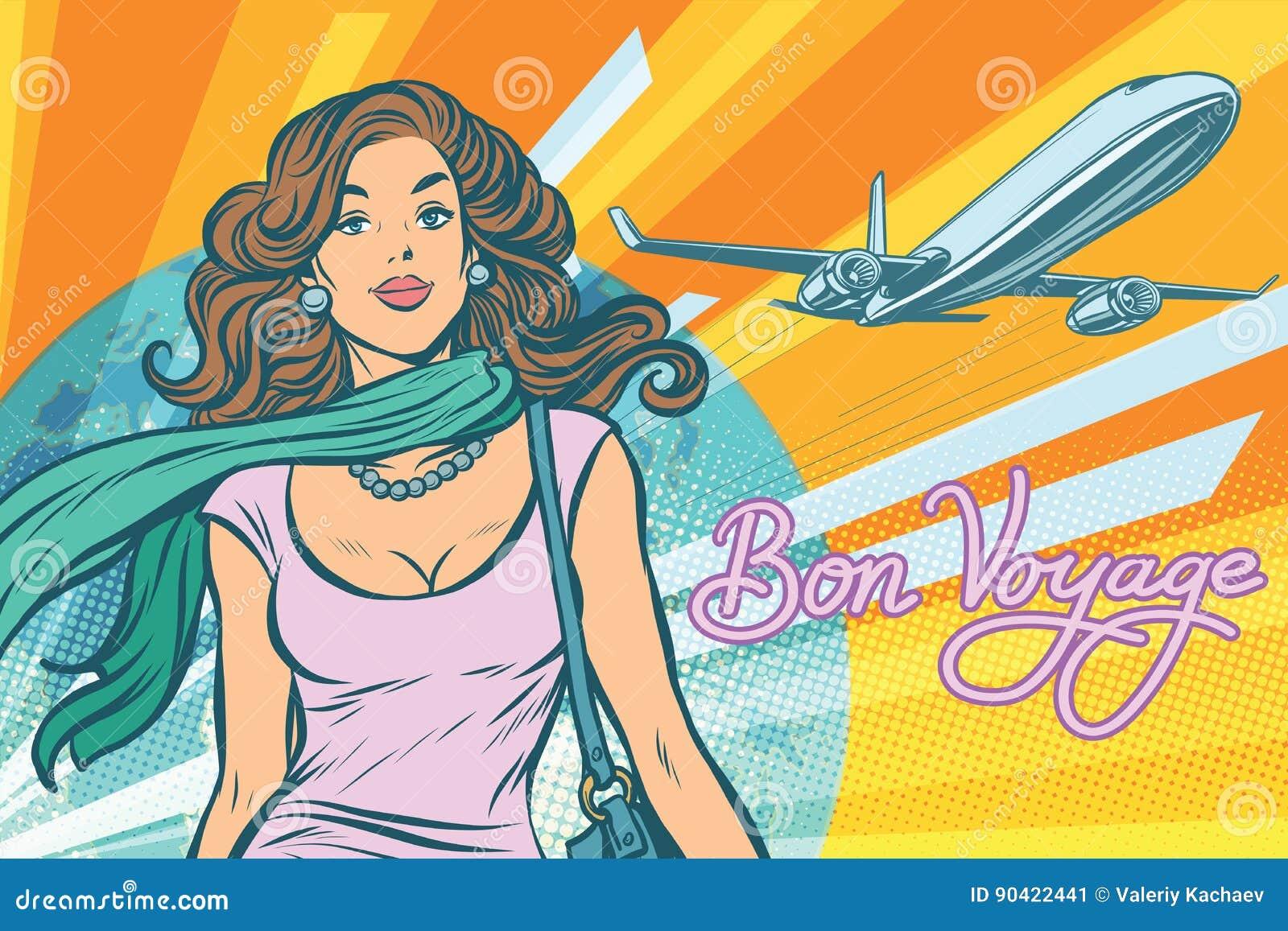 美丽的少妇在机场