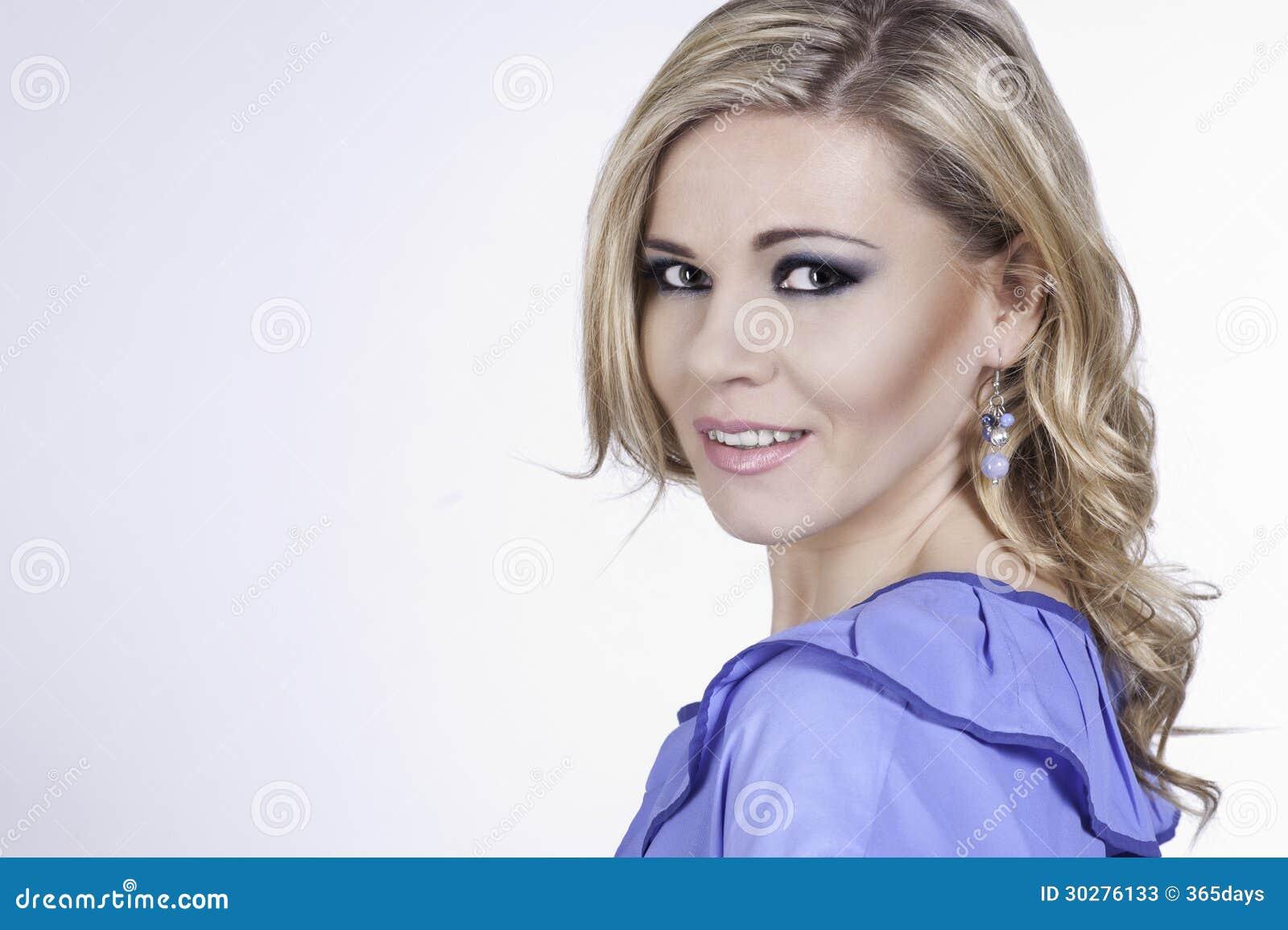 美丽的妇女Clouse-up画象