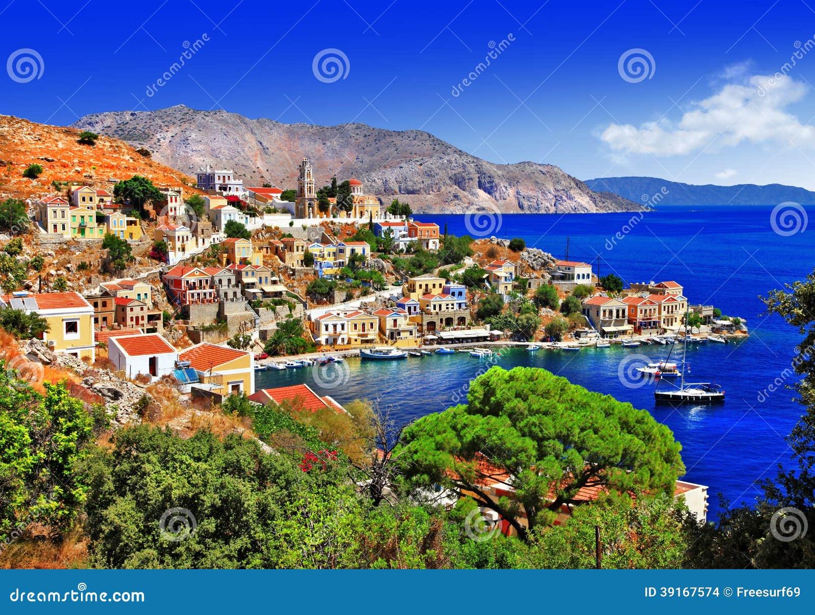 美丽的希腊海岛-锡米岛