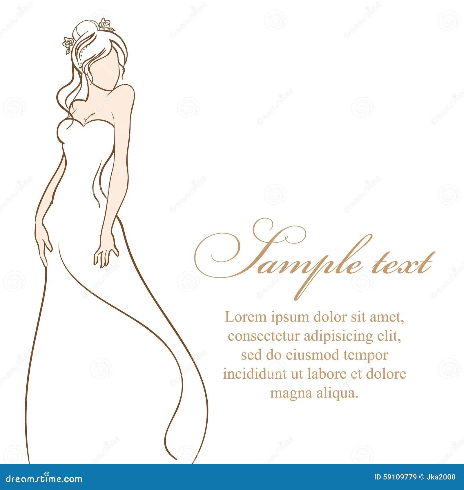 美丽的新娘 也corel凹道例证向量