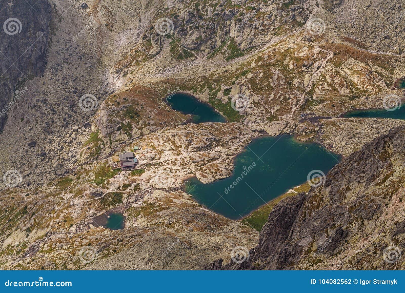 美丽的湖照片高Tatra山的,斯洛伐克,欧洲