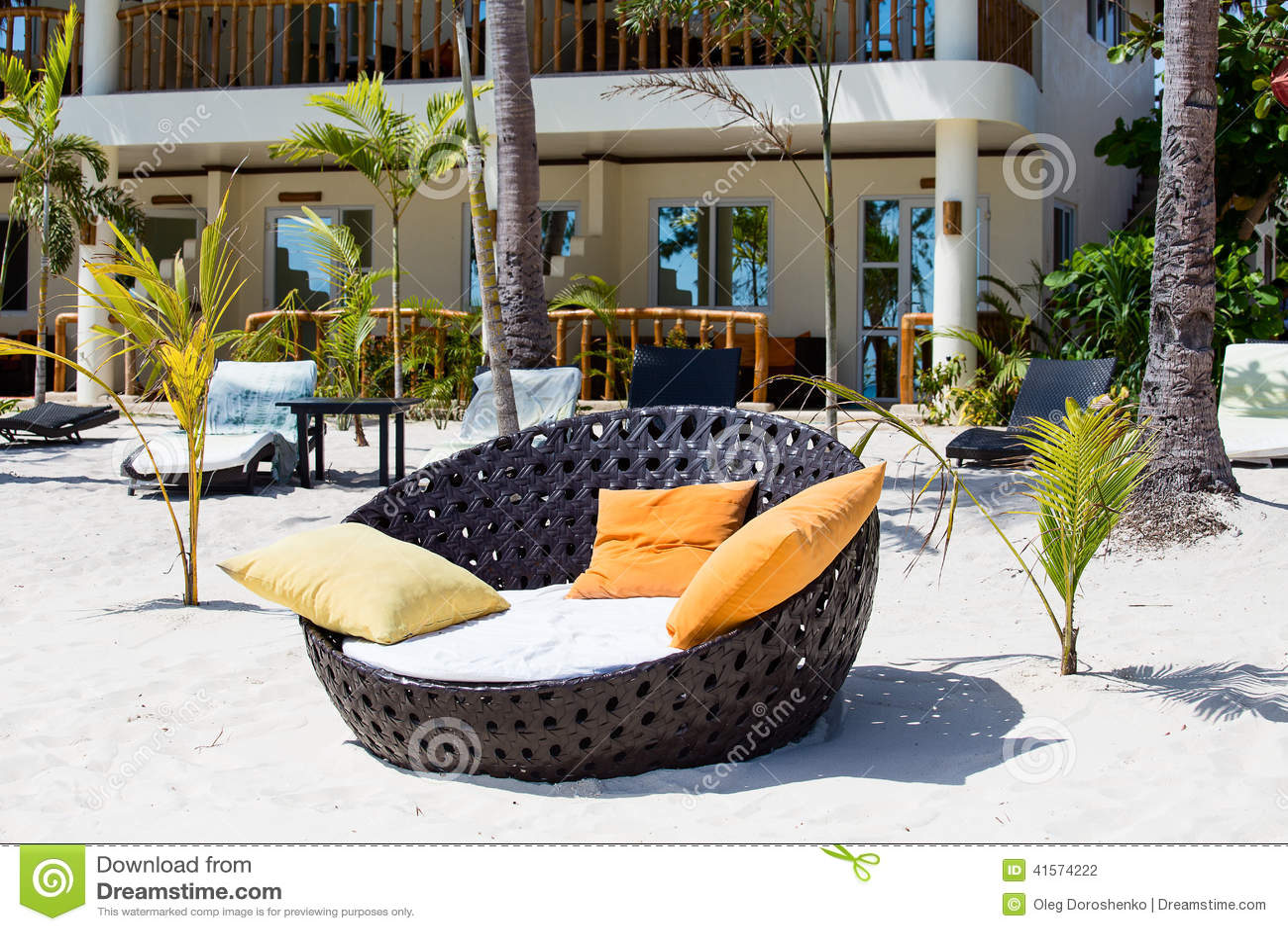 美丽的热带海滩在菲律宾