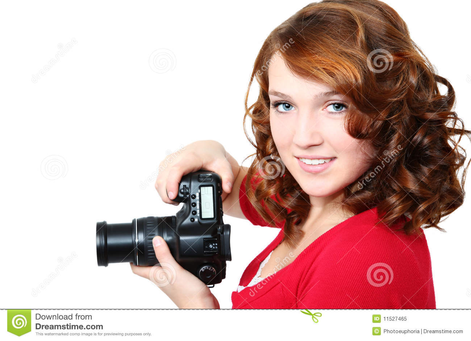 美丽的照相机女孩