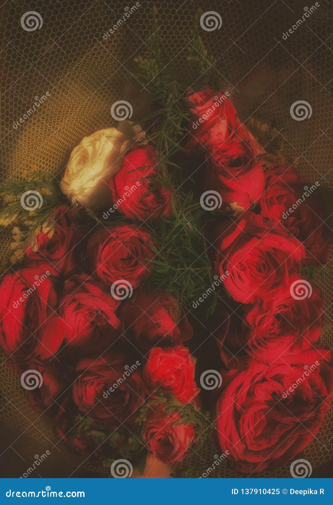 美丽的玫瑰boquet