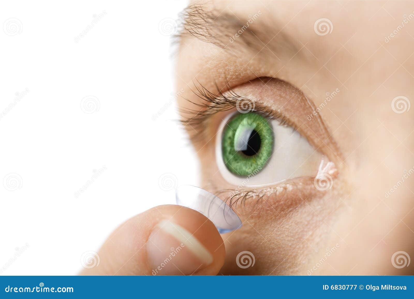 美丽的联络眼睛人力查出的透镜